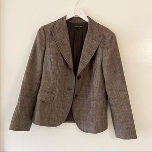 Lafayette 148 Brown Wool Suit Jacket Blazer Classic Workwear Career Style